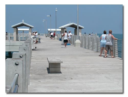 Gulf fishing pier attracts a lot of fisherment