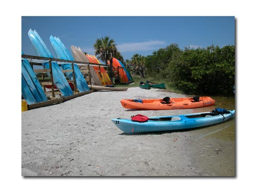 A large selection of kayaks for paddlers