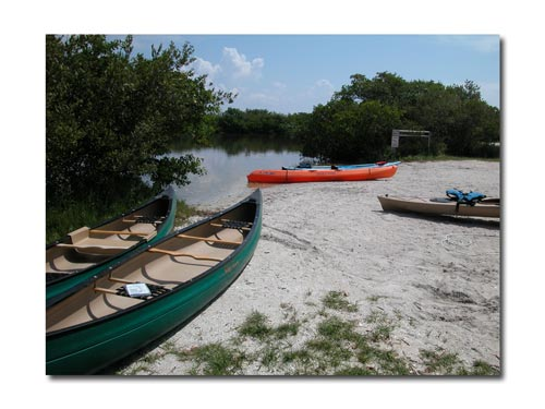 Rent a canoe and paddle on the quiet backwaters at Fort Desoto