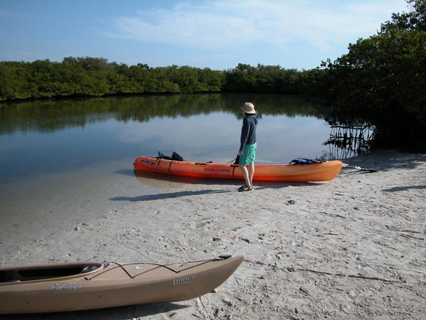 Kayak launch at Topwater Kayak, Fort Desoto Park